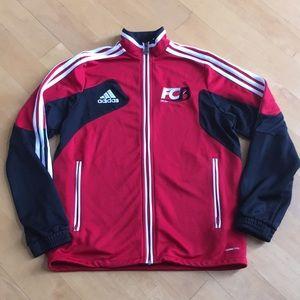 Adidas ClimaCool boys zip-up track soccer jacket